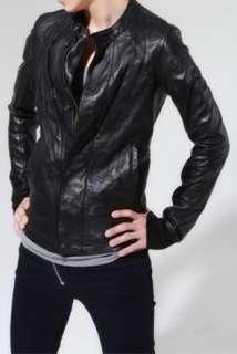 CK0W3N$ leather jacket ro fan vintage fanny Medium