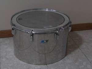Vintage 70s Ludwig 16 Stainless Steel Tom Tom Drum # 1565026