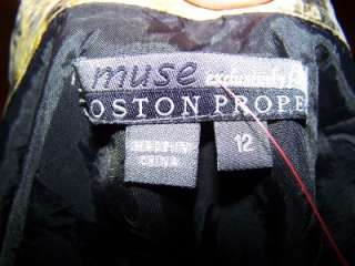 Muse for Boston Proper Silk Snakeskin Print Dress 12