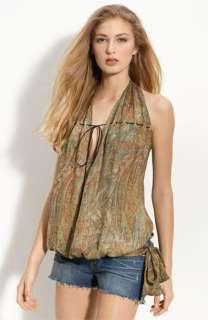 Haute Hippie Silk Halter Top