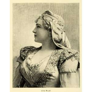1895 Print American Stage Actress Singer Lillian Russell