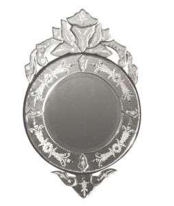 VENETIAN Framed WALL MIRROR Vanity Mantel Etched Round NEW