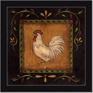 Rooster II French Country Cottage Decor Kitchen Framed