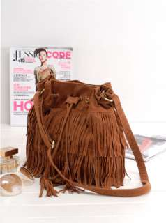 Suede Fringe Tassel Shoulder Bag Womens Handbags Messenger Bag