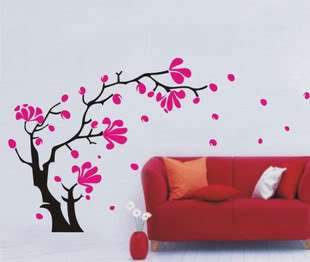 Decorative Wall Paper Art Sticker Flower Tree 1.8*1.0m