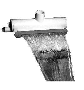 Spa/ Hot Tub WATERFALL AQUA FALL 8 WHITE FIBER OPTIC