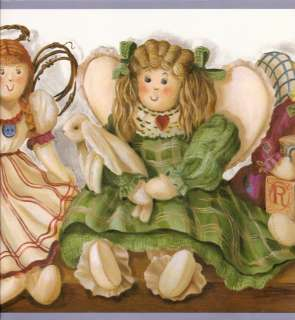 ANTIQUE DOLL ANGELS WITH WINGS Wallpaper bordeR Wall