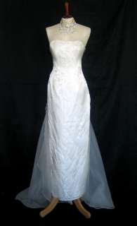 NWT Jessica McClintock Ivory Organza Wings Gown Size 10