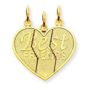 14k 3 piece Break apart Friend Charm [Jewelry]