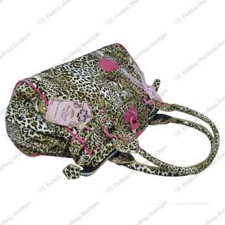 handbag made from quality artificial leather with leopard tiger print