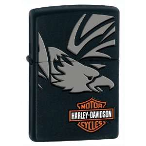 Zippo Harley Davidson Eagle Black Matte Lighter Kitchen
