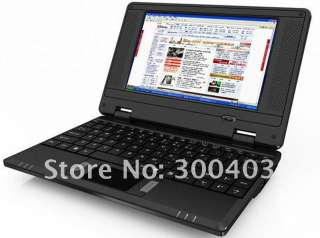 7 inch mini laptop notebook,VIA8650 windows ce android 2