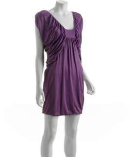 Laila Azhar royal purple silk jersey Butterfly dress   up to