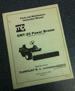 Jacobsen Turfcat II 2 SMT 20 Power Broom Parts Manual