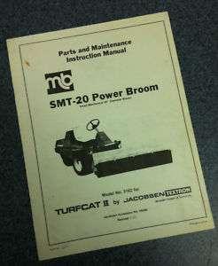 Jacobsen Turfcat II 2 SMT 20 Power Broom Parts Manual