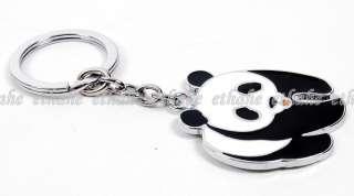 Chinese Panda Metal Keychain Key Ring Fob Chain 2LFW