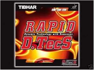 Tibhar Rapid D.TecS Rubber table tennis ping pong blade