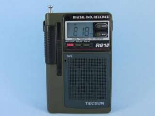 TECSUN R 818 FM/MW/SW Multi Band Clock Portable Radio