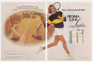 1985 Virginia Slims Women Racquet Sports 2 Page Ad