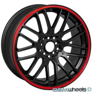 18 MATTE BLACK WHEELS RIMS FITS BMW E36 E46 E90 TOYOTA VW SCION
