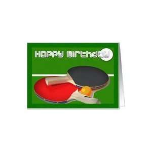 Birthday sport Ping Pong Table Tennis Card Health