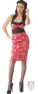 Hell Bunny Rocka Tattoo Flash Rockabilly Pencil Dress