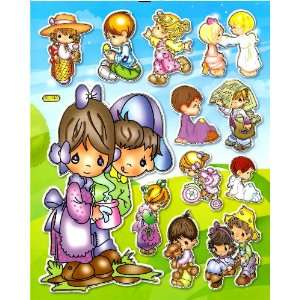 Precious Moments teddy bear angel boy girl figurine doll Sticker