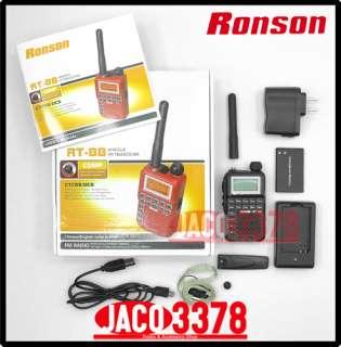 RONSON RT 88 Black UHF 400 480Mhz small radio+ earpiece