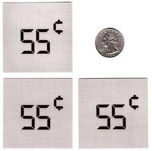 55 Cent Dixie Narco Soda Vend Machine   3 Price Labels