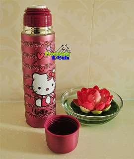 Hello Kitty Stainless Steel Vacuum Warm Travel Mug Tea Cup c/w bag