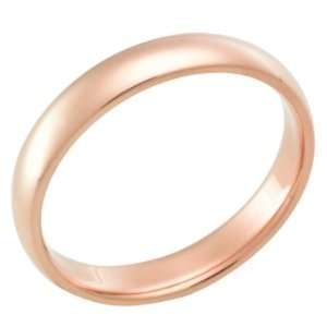 4.0 Millimeters Rose Gold Heavy Wedding Band Ring 18kt Gold
