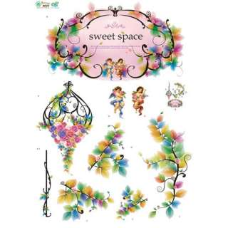 FLOWERS KID Adhesive Removable Wall Home Decor Accents Stickers Decals
