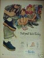 1950 U.S Keds Tennis Shoes Mens,Womens,Boys,Girls Ad