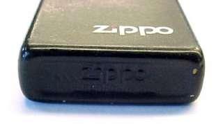Vintage Slim Black Matte ZIPPO Lighter w/ Logo