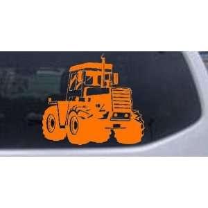 Orange 8in X 8.9in    Logging Skidder Business Car Window Wall Laptop